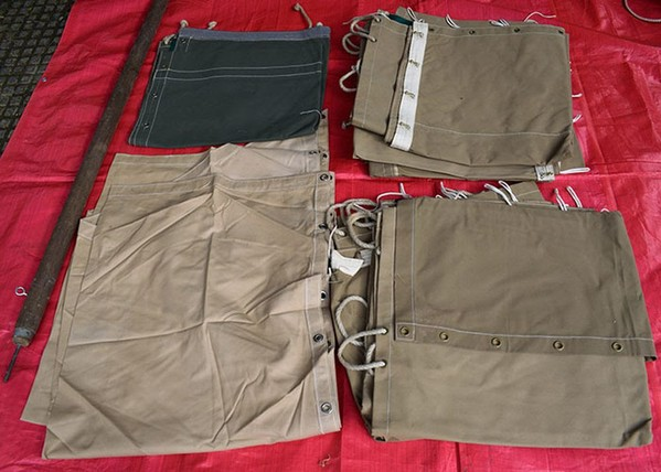 Canvas Tent Folded