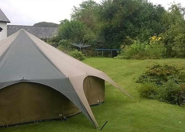 Canvas Tent in Garden