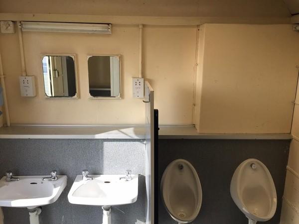 Portaloo 3 + 2 Toilet Trailer Mens Sinks and Urinals