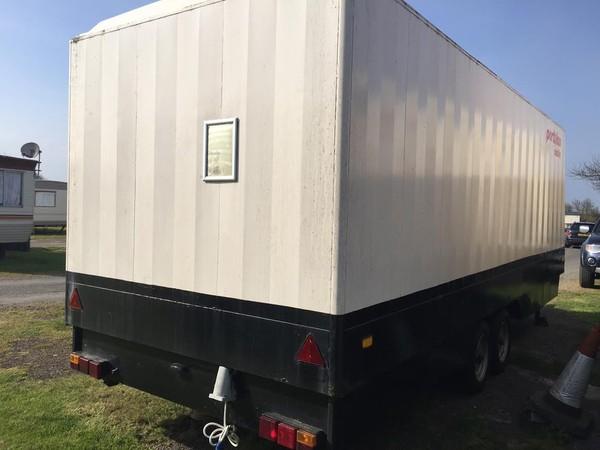Portaloo 3 + 2 Toilet Trailer Mobile Toilet Unit Back