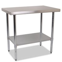 Catering Preperation Stainless Steel Centre Table - 900mm - Clearance Stock