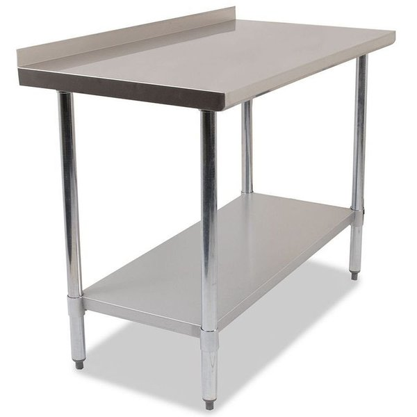 Catering Preperation Stainless Steel Wall Table - 1.5m Clearance Stock