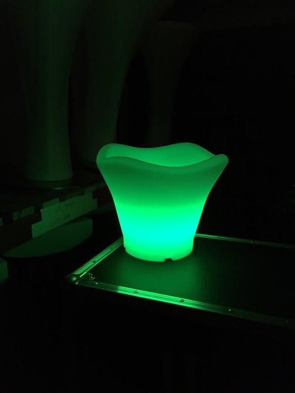 Green LED Glowing Ice Buckets