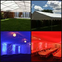 Business includes: Marquee Package, Lining, Flooring, Electrics, Carry bags & Boxes inc, Tables, Chairs and Van
