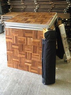 16ft x 16ft Wooden Parquet Dance Floor For Sale