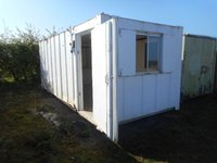 White Anti Vandal Office Portable Building Shipping Container Site Office