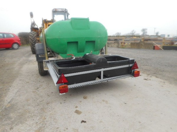 1250L Trailer Engineering Towable Water Bowse