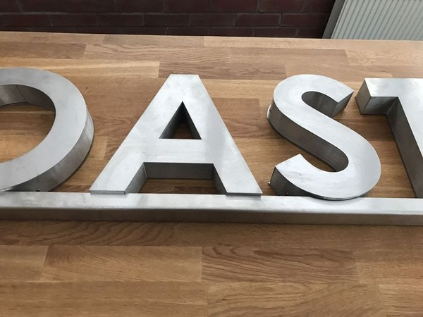 Large Metal well-built sign 'OAS'