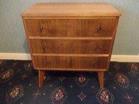Morris of Glasgow Three drawer chests Australian walnut