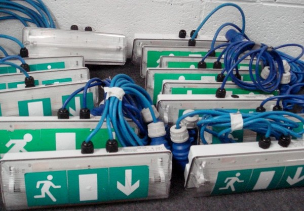 12 Emergency Exit Lights