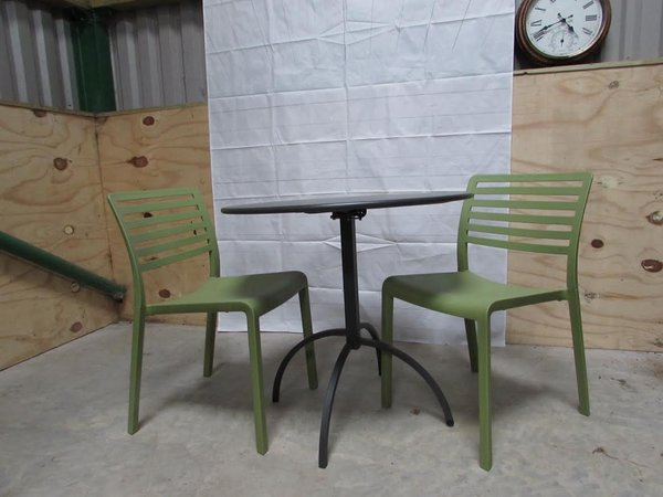 Sage Green Italian Polypropolene Stacking Chairs