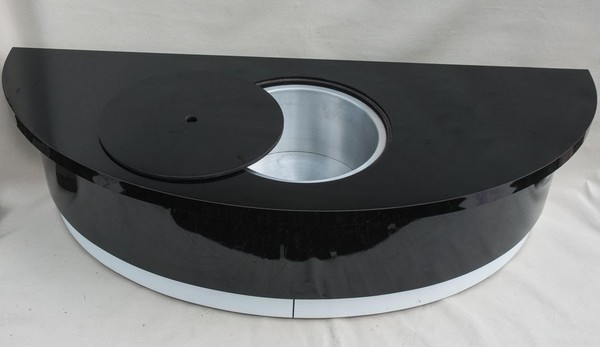 Long Black Champagne Table with Built in Aluminium Ice Bucket