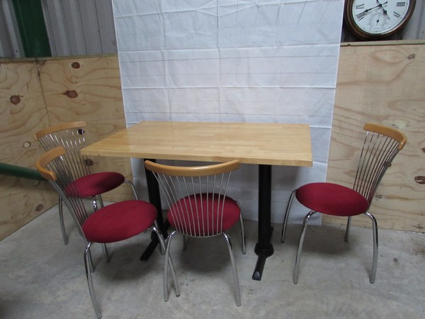 Red Chrome Bistro Chairs
