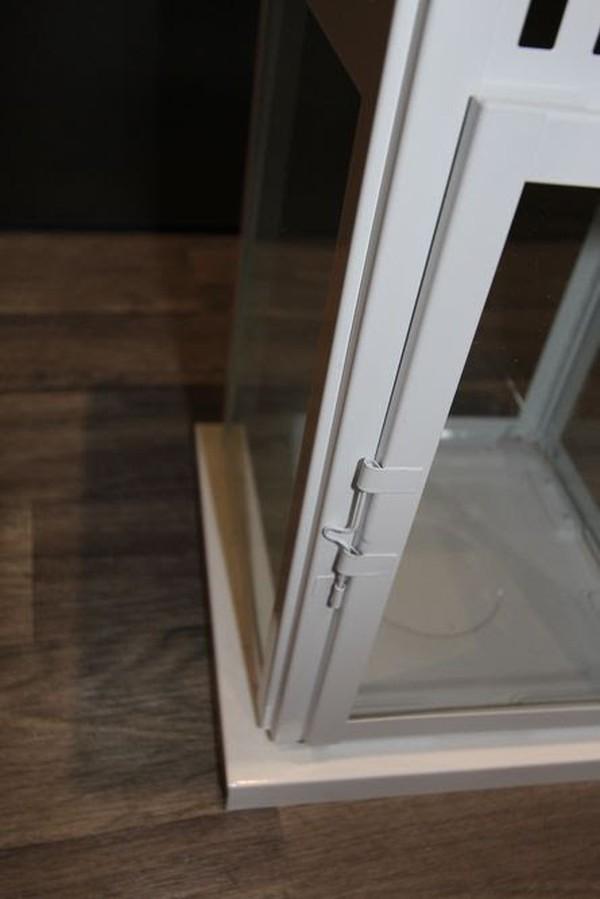 White Floor Lantern Metal Door