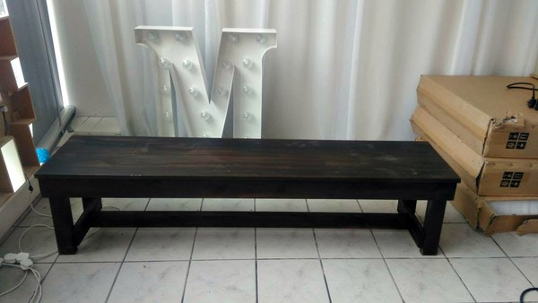 Dark Wooden Benches For Sale