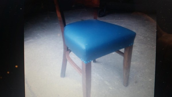 Padded blue seat