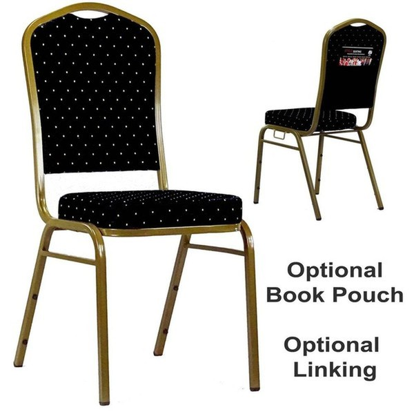 Black Linking Stacking Event / Venue Chairs