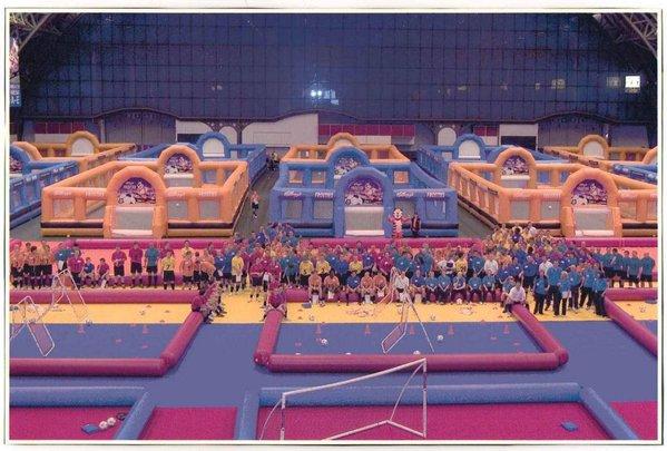 Inflatable football arena