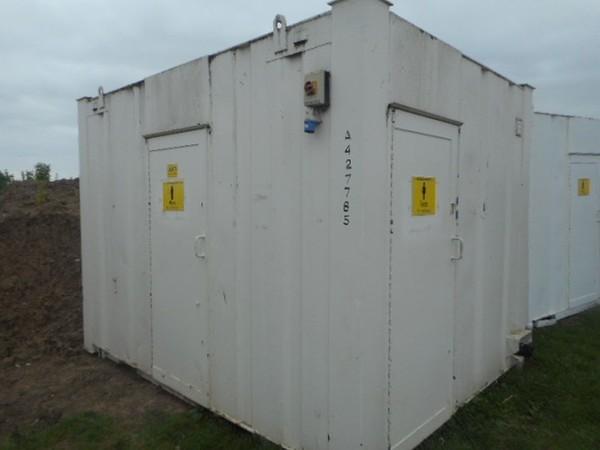 12' x 9' Anti Vandal 2+1 Toilet Unit