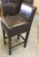 Leather High Back Bar Stools