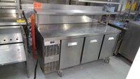 Three Door Stainless Steel Bench Fridge AST045