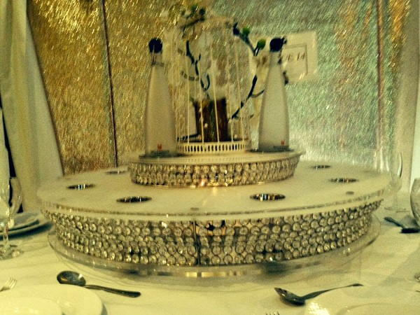 2 Tire Crystal Lazy Susan For Sale