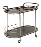 1970's Chrome & Glass Drinks Cabinet / Trolley