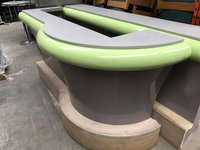 Wooden Green Counter For Shop