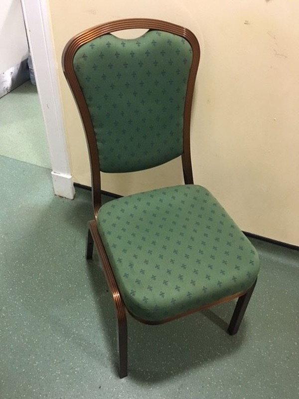 Green Metal Framed Event Chair For Sale