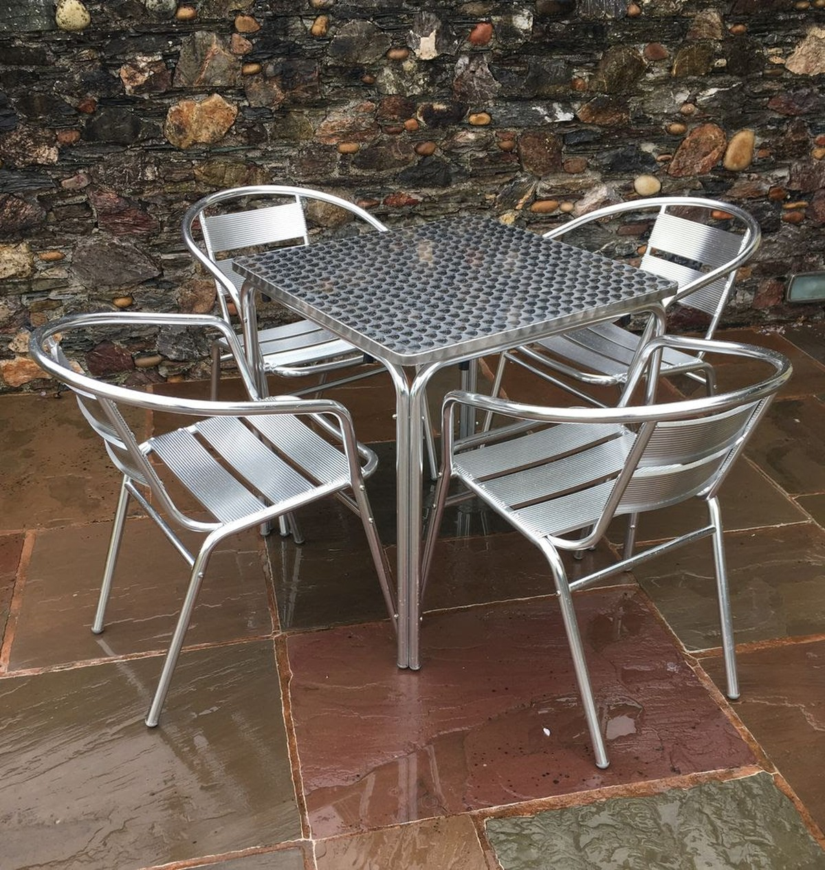 secondhand chairs and tables outdoor furniture 3 sets aluminium