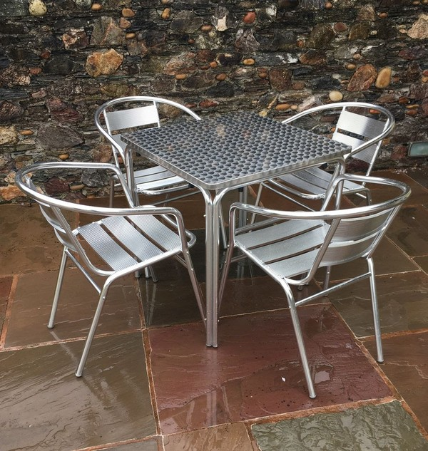 Aluminium/Stainless Steel Outside Stacking Bistro/Cafe Furniture