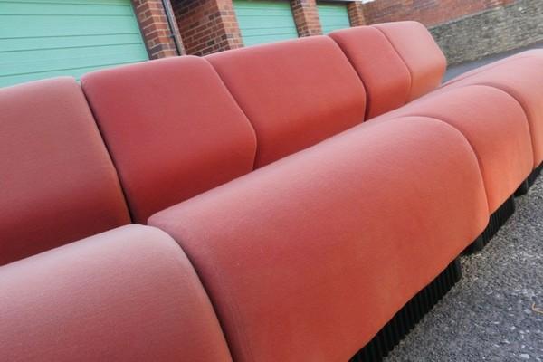 70s Vintage Red Sofa