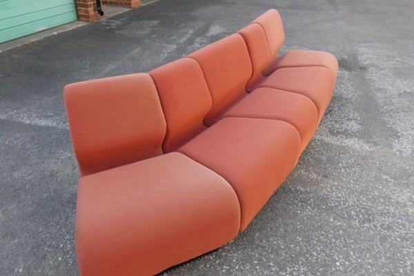 Cloth Covered Sofa