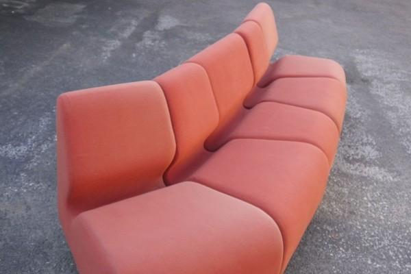 Red 5 Piece Modular Sofa