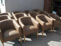 12 x Brown Tub Chairs For Sale