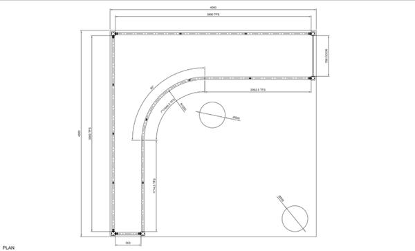 Curved Framework Stand