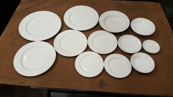 White Jacobean Crockery