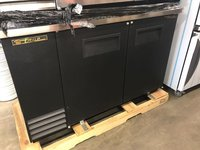 Solid Black Back Bar Double Door Cooler