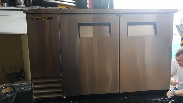 Solid Silver Back Bar Double Door Cooler