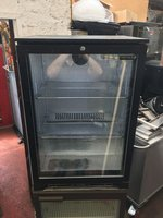 Tefcold Black Single Door Bottle Fridge