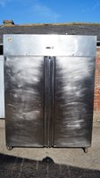 Commercial Parry Stainless Steel Double Door Fridge