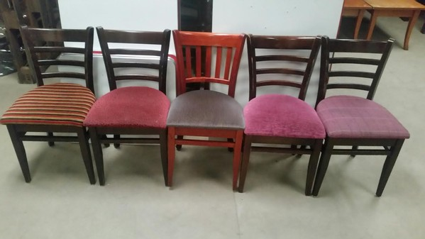 Mixed Upholstered Seat  Dallas/Houston Chairs