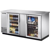 Stainless Steel Glass Door Back Bar Cooler Model: TBB-3G-S