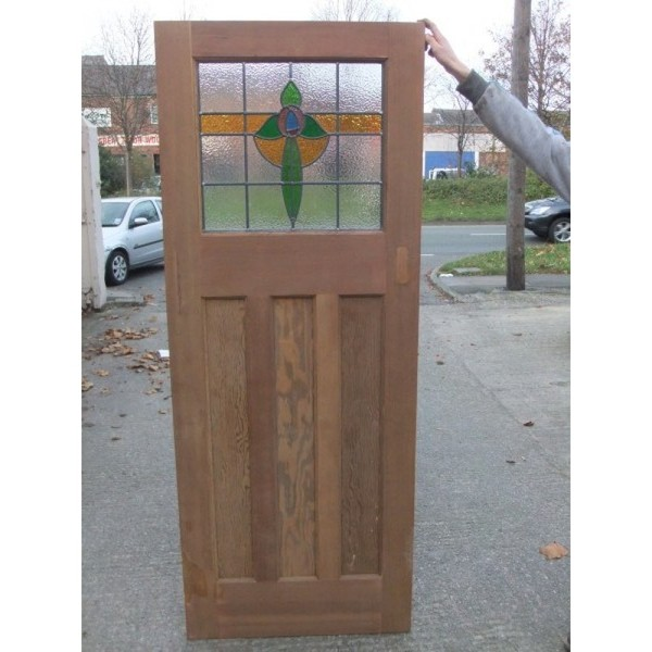 1930 Edwardian Stained Glass Door