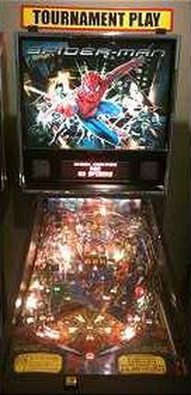 Spider Man Pinball Arcade Machine