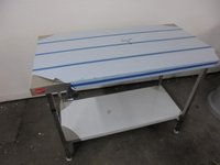 Folding kitchen stainless steel table