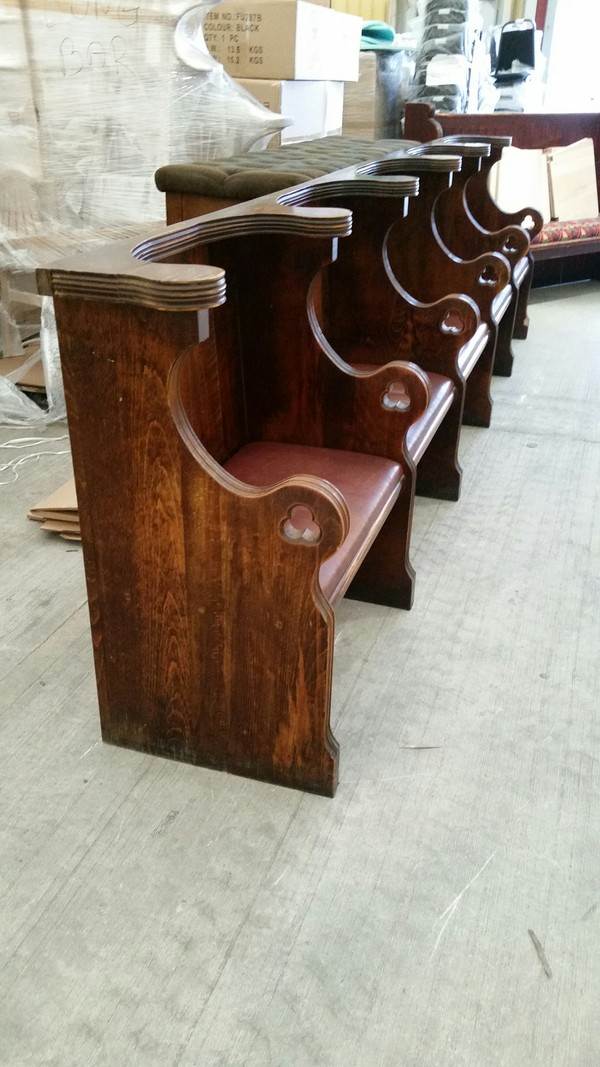 Unique pew style bench - Nottingham