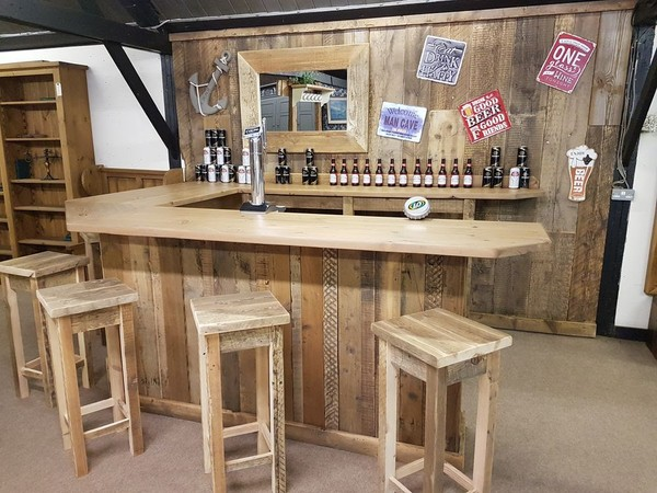 Rustic Reclaimed Wood Bar