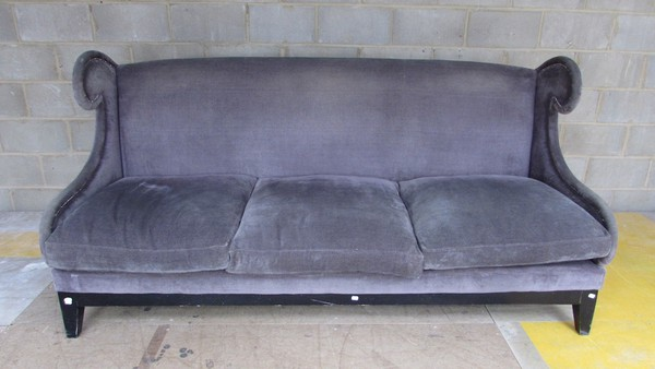 Purple Fabric Feather 3 Seater Sofa