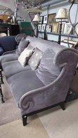 Purple Fabric And Feather 3 Seat Sofa
